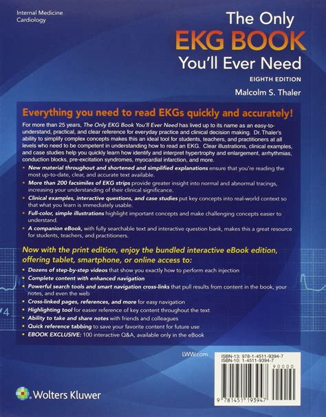the only ekg book you ll need books galleon the only ekg book you ll need thaler only