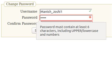 javascript password pattern check password validation using html5 and javascript function