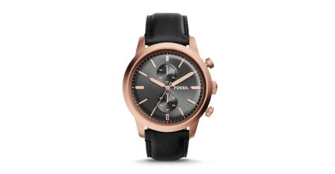 fossil fs 5097 townsman chronograph black leather fossil