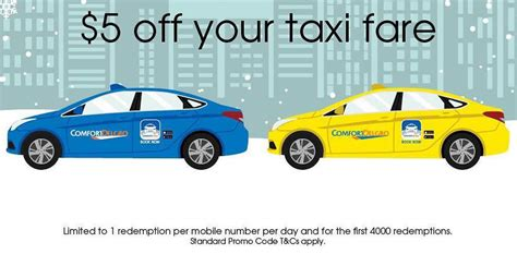 Comfort Delgro by Comfort Delgro Releases New 5 Taxi Rides Promo Code