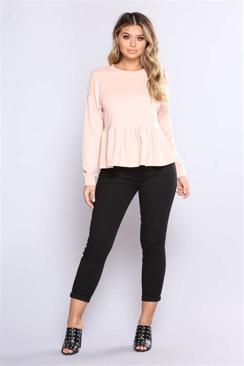 Top Roses Peplum 13277 for whateva peplum top pink