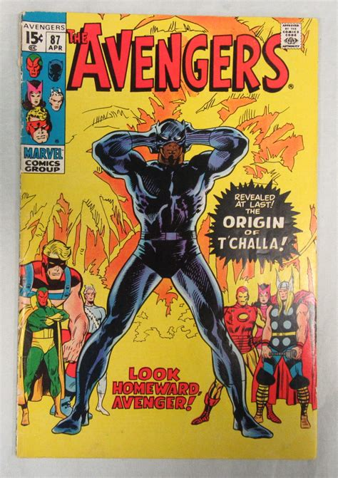 T Hirt Phanter Magi Store 87 vg 1971 origin of t challa black panther