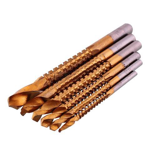 Set Titanium 8 מוצר 6pcs set titanium coated drill bit set high speed