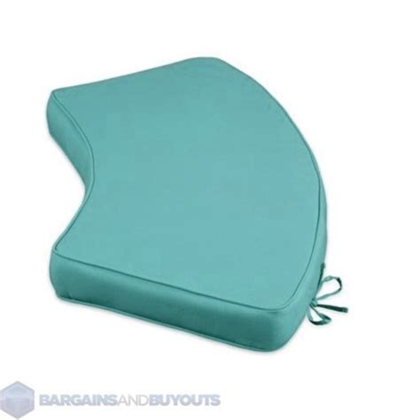 Outdoor Fire Pit Bench Cushion Half Round Light Blue 8686390