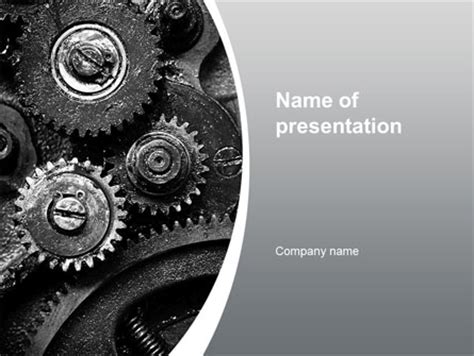 Well Oiled Machine Presentation Template For Powerpoint And Keynote Ppt Star Powerpoint Templates For Machines