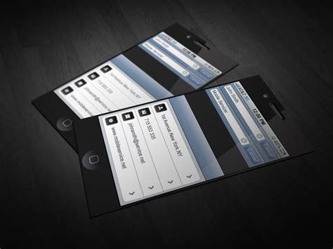 cell phone business card template iphone business card by cacadoo on deviantart