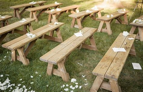 cheap wooden benches east hton outdoor wedding