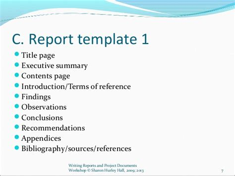 workshop summary report template writing reports and project documents