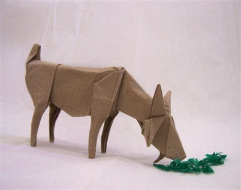 How To Make A Paper Goat - origami goat by arturoeduardo on deviantart