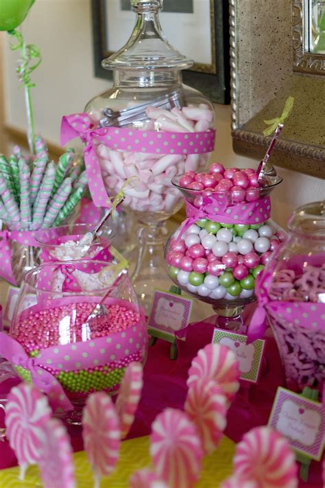communion candy bardecorated  tablescapes