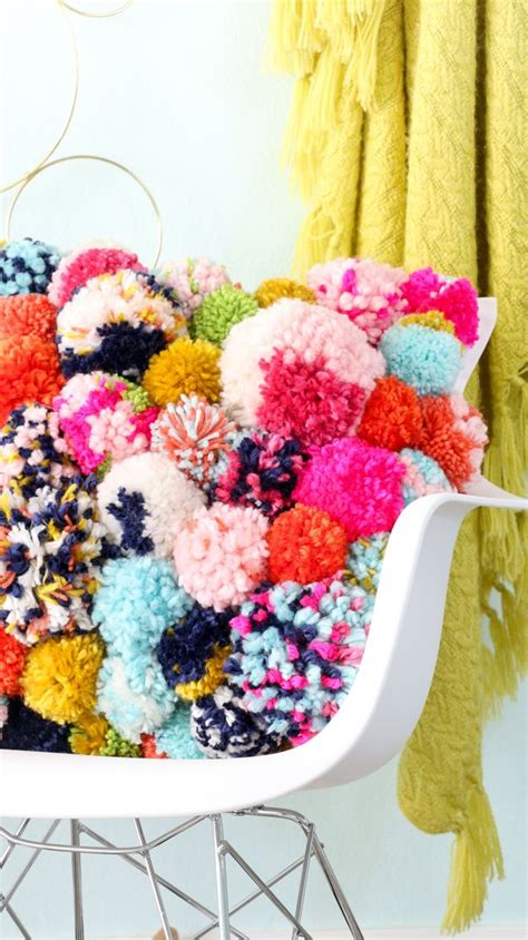 diy home decor crafts diy it a cozy pom pom pillow home and diy diy home