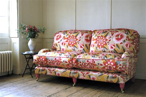 floral couches back to decorating with patterned upholstered furniture