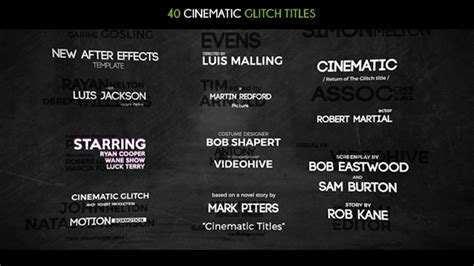 40 Cinematic Glitch Titles Grunge After Effects Templates F5 Design Com Cinematic Title After Effects Template