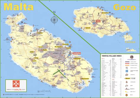 map of malta travel map of malta