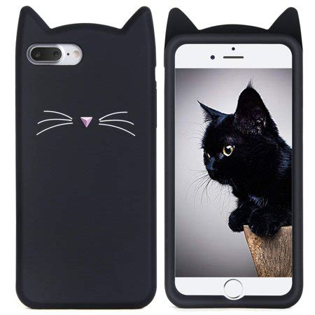 iphone   case cute  black meow party cat kitty whiskers protective soft case skin