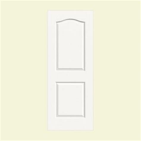 2 panel interior doors home depot jeld wen 36 in x 80 in molded textured 2 panel eyebrow brilliant white hollow composite