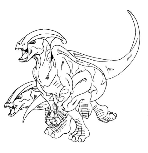 Parasaurolophus Ink By Marhero On Deviantart Parasaurolophus Coloring Page
