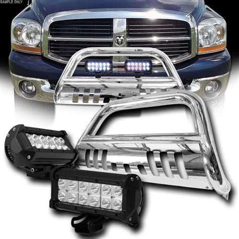 2008 dodge ram 1500 led fog lights 2006 2008 dodge ram 1500 polished bull bar 36w cree led