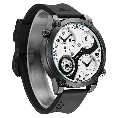 Jam Tangan Premium Weide Universe Series Time Zone 30m Water R 4 weide universe series dual time zone compass 30m water resistance uv1505 white black