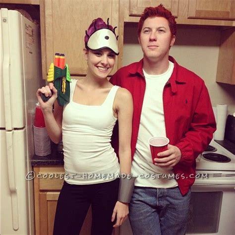 easy cheap  homemade futurama couples costume