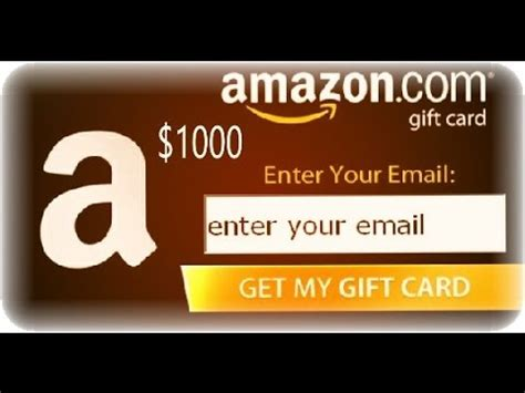 Amazon 1000 Gift Card Code - get free 1000 amazon gift card 2017 amazon gift card codes youtube