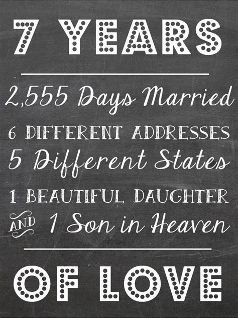 Wedding Anniversary Quotes 7 Years by 7 Wedding Anniversary Ideas