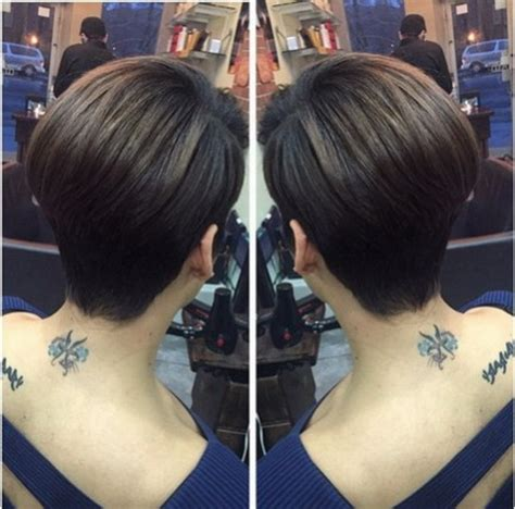 back front pictures of short haircuts for women over 50 fine hair back view of short haircuts for women
