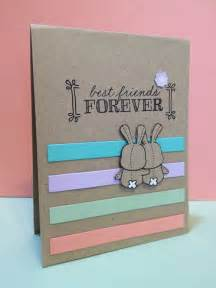 handmade greeting cards for friends birthday best friends forever greeting card 4 25 quot x 5 50 quot bff