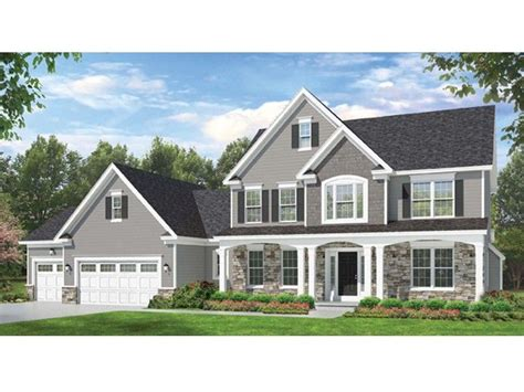 Colonial Houseplans by Eplans Colonial House Plan Space Where It Counts 2523