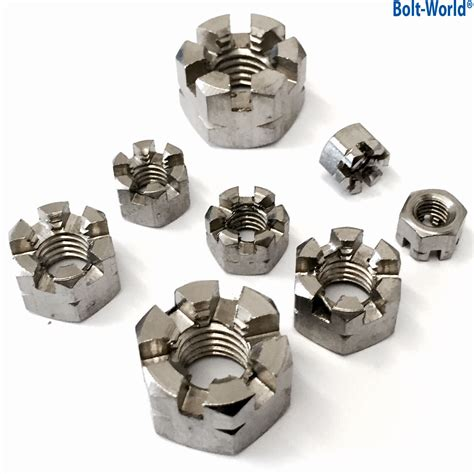 Castle Nut Mur Benteng Slotted Nut M 20 Diameter 20 Mm m5 m6 m8 m10 m12 m16 m20 stainless steel a2 hexagon slotted castle nuts din 935 ebay