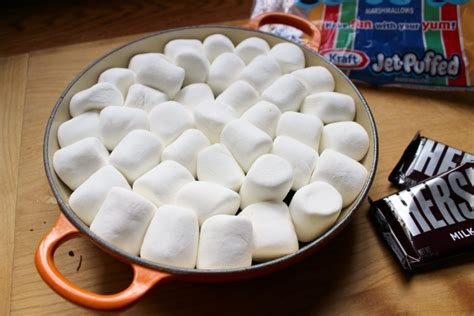 best marshmallows for s mores smores dip recipe deliciously simple and oven made