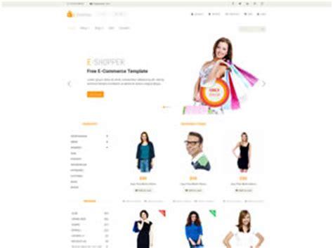 Free Online Shop Website Templates 93 Free Css E Shopper Ecommerce Template