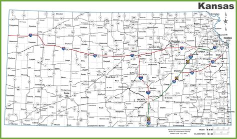 kansas state map highway map of kansas kansas map