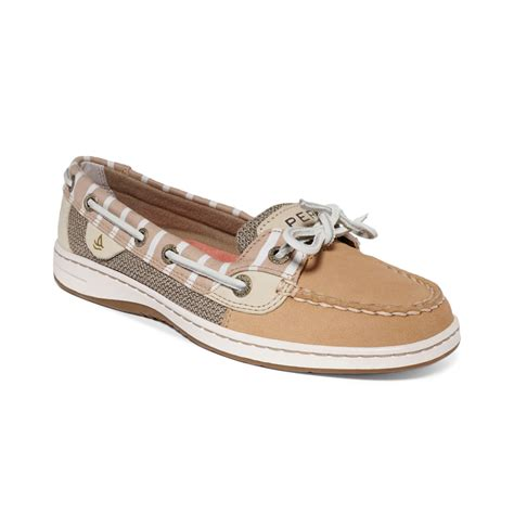 sperry top sider shoes sperry top sider womens angelfish boat shoes in brown