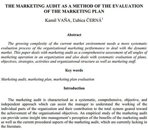 marketing audit template marketing audit template 26 free word excel documents