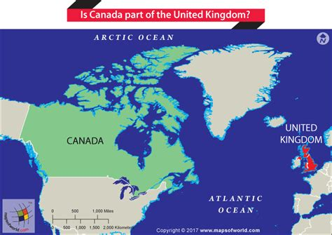 map of usa and canada and europe is canada part of the united kingdom answers
