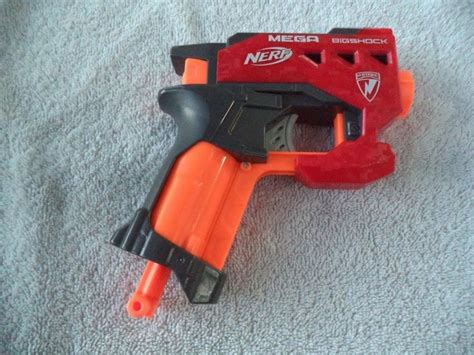NERF N Strike Mega BigShock Blaster Gun Red Pistol #Hasbro $6.99   Shopping Shopping Shopping