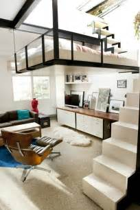 loft bed for studio apartment london studio apartment with suspended bed and rooftop