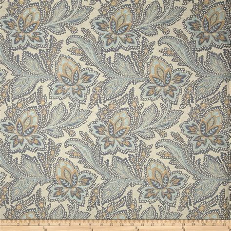 French General Jacobean Floral Jacquard La Mer Discount