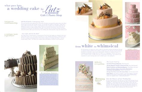 Wedding Cake Brochure by Wedding Cake Brochure Design Collateral W A Schmidt