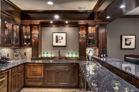 Kitchen Backsplash Ideas With Oak Cabinets Titanium Granite Bar Granite Pinterest Bar And Granite