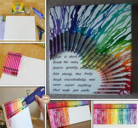 diy crafts with crayons diy melted crayon wall craft projects