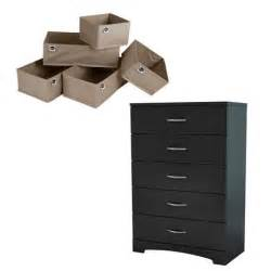 South Shore Soho 5 Drawer Chest Black by South Shore Soho Black And Beige 5 Drawer Chest 5