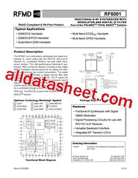 datasheet of rf diode datasheet of rf diode 28 images rf2104 datasheet pdf rf micro devices rf3145 datasheet pdf