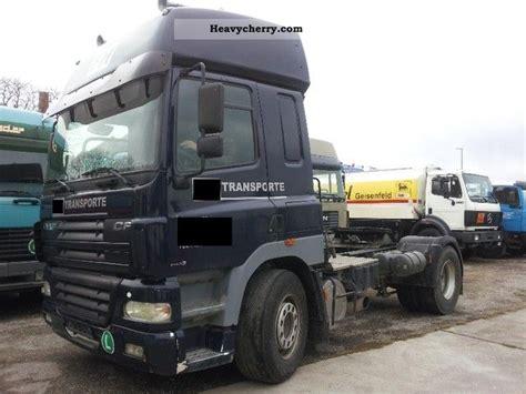 daf cf 430 air retader kipphydraulik 3 2001 standard tractor trailer unit photo and specs