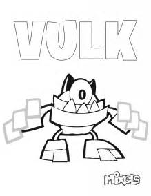 mixel coloring pages mixels coloring page vulk eric s activity pages