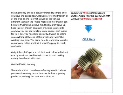 Making Easy Money Online For Free - how to make easy money online for free