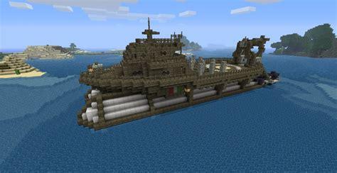 minecraft cargo boat airship fleet work boat minecraft project