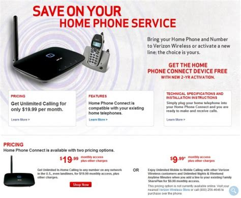 verizon wireless expands its home phone connect service