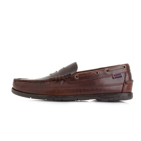 mens brown loafer shoes mens sebago sloop brown waxy brown classic leather